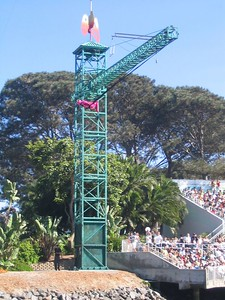 The bungee view from the island