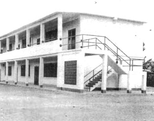 The completed 12 room Long Khanh Public High School constructed in Xuan Loc. THis reinforced concrete building was worked on by Teams 0104, 4004, and 0417.<br /> Photo:Seabee Team Deployment Completion Report
