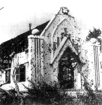 Church in the Thu Duc Village, Gia Dinh Province, near Seabee Team 0601 compound after Tet 1968.<br /> Photo: Seabee Team Deployment Completion Report