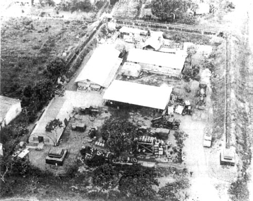 Aerial view of the team compound at Soc Trang, Ba Xuyen Province.<br /> Photo: Seabee Team Deployment Completion Report