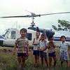 Children Gather Near Air America Chopper-Chiang Kham, Thailand 1967