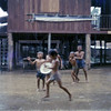 Children Play in the Rain at Seabee House-Chiang Kham, Thailand 1967