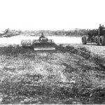 Constructing helicopter pads at Vinh Long Airfield, Ving LOng Province. Three helicopter pads and an ammunition storage area were constructed by Team 1107.<br /> Photo: Seabee Team Deployment Completion Report