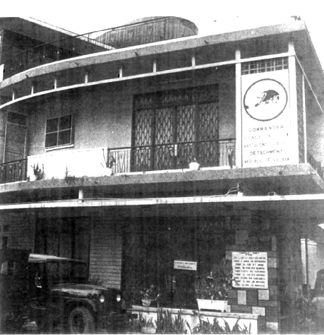 Seabee House at 236K Truong Minh Ky in downtown Saigon. This structure was occupied by CBPACDET RVN until May 1971 when the enlisted personnel were moved to quarters at the Detachment compound at Tan Son Nhut