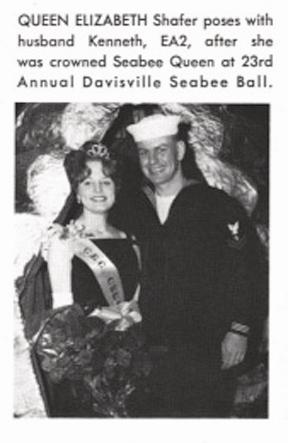 Queen Elizabeth Shafer-1965 Davisville Seabee Ball