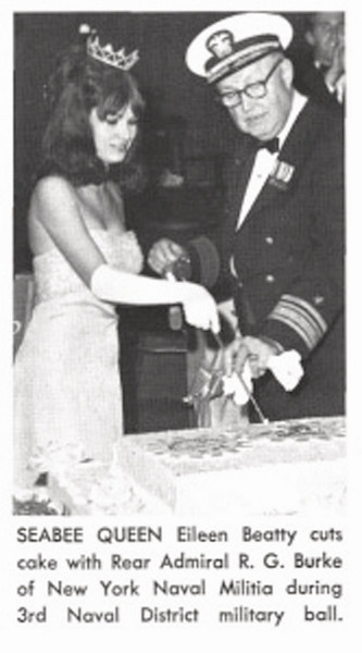 Queen Eileen Beatty (on the left) -1967 3rd Naval District Seabee Ball