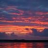 arriving at the Falkland Islands, sunset over Sea Lion Island ...