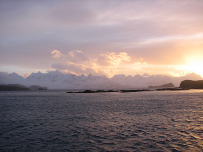 sunset on the Bay of Isles