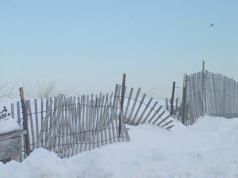 Salisbury Beach in winter
