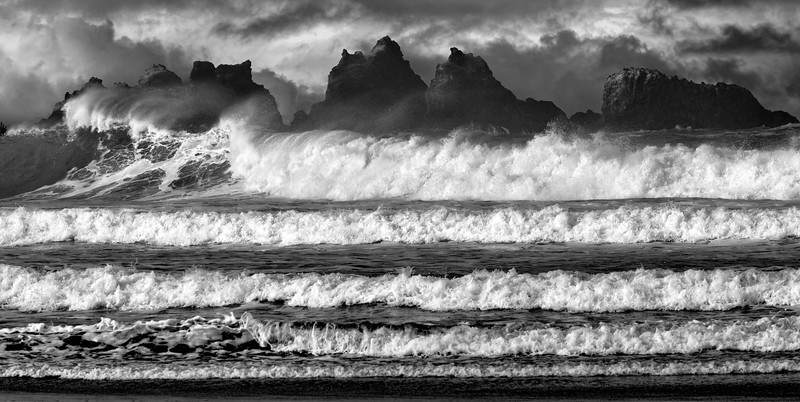 Stacked Waves, Bandon Beach