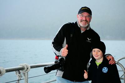 Whale watching, Juneau, AK