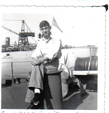 Shipmate Clyde Lewis Smith of West Virginia aboard the Altair 1954.