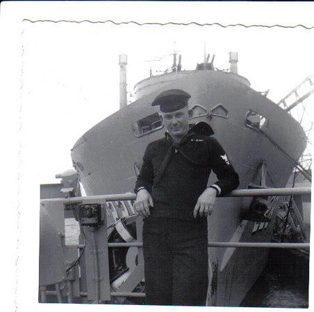 Jesse Jones aboard the Altair in Norfolk 1953.