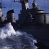 Summer 1955 - USS North Hampton CLC 1  It does get rough!