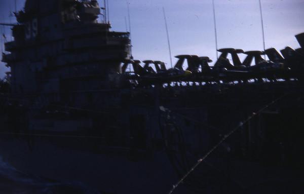 Summer 1955 - USS Lake Champlain CV 39 on station.