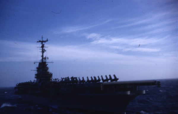 Summer 1955 - USS Lake Champlain CV 39 Arriving on station.