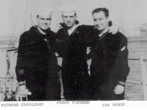 What a great picture of Richard Capolongo, Frank Tinuzzo and Ira Rubin taken in 1956.