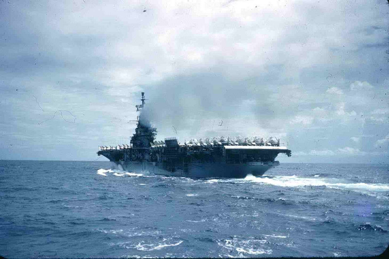 Carrier pulling away after replenshment. Beautiful site