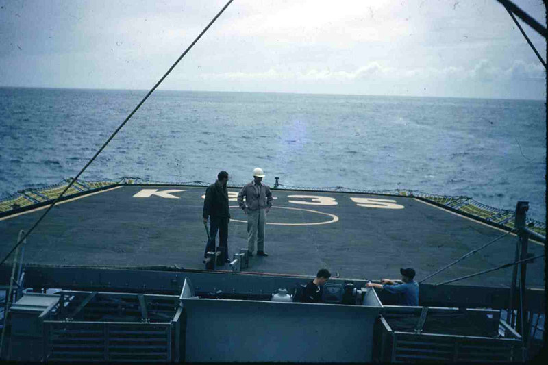 Lt. Fury on helicopter deck.