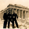 L-R: Walter Johnson (Johnnie),  D. Schraff, and C. O. Lee in Athens
