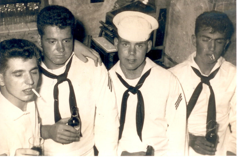 L-R: Jim Gerain, Red Foley, Unknown, John Mowitz, Unknown