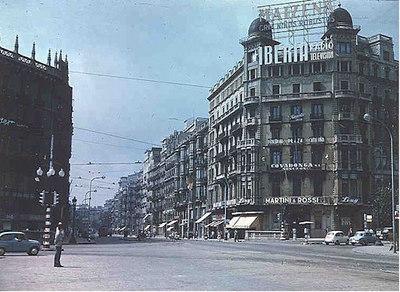 Plaza de Cataluna at northern end of the Ramblas