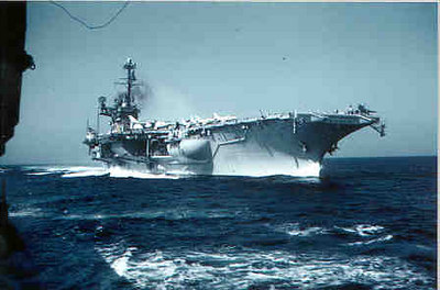 USS Independence making an approach 1961