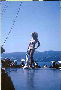 Cannes fashion show; note attention of crew