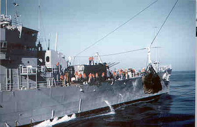 USS Little Rock CLG4 on a calm day 1961