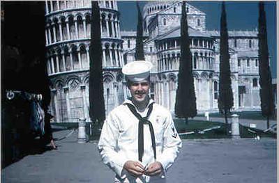 Neal Johnson on tour in Pisa 1961