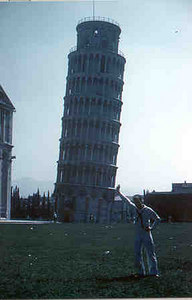 Jim Spiegel at Leaning Tower of Pisa