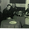 USS Altair ships party January 1962.  L-R  SN Anderson, SN Yates, SN Adams, SN Vit, Conchita