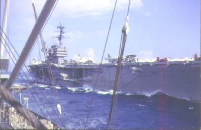 USS Saratoga CVA60 coming alongside the Altair 1962.