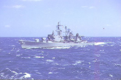 USS Luce DLG7 coming alongside the Altair.
