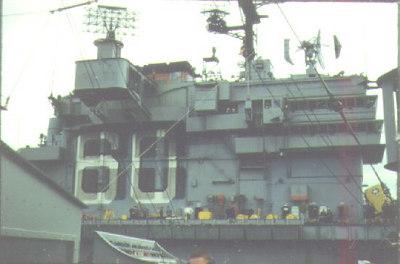 USS Saratoga CVA60 alongside the Altair 1962.