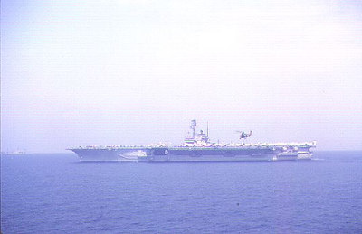 USS Forrestal CVA69 with the Altair helo delivering cargo.