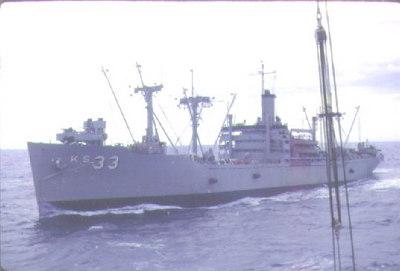 USS Antares AKS33, the Altair's sister ship, alongside 1962.