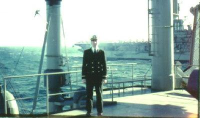 Ens. Robert Rati with the USS Intrepid CVA11 alongside the Altair 1962.
