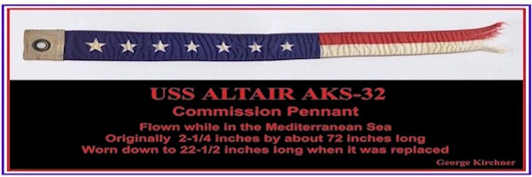 The Altair original commissioning pennant.