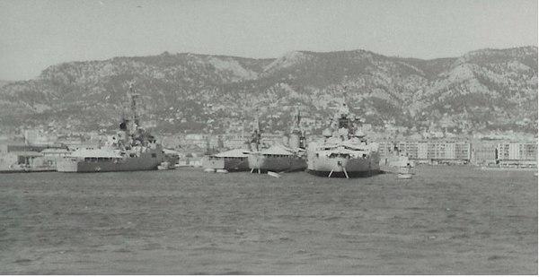 Anchored at Toulon.