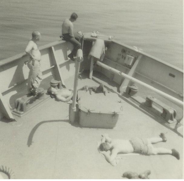 Work detail at sea 1962.  Working?