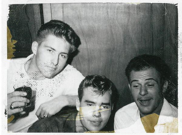 Paul Wierderks, Frank Taylor & Don Baker 1962  Barcelona Spain at Binx Taylor's Party