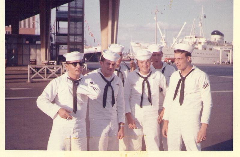 Longo, Lou Colandrea, Jim French MM2, Ed (Mac) McDonald , JJ Kennedy SN and Mike Troiano SN