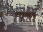 Ceremony aboard the Altair.