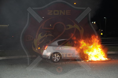 Seaford F.D. Car Fire Washington Ave. and Sunrise Hwy. (Train Station Parking Lot) 7/6/13