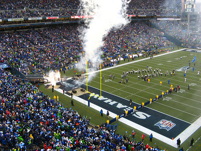 Seahawks starters enter the field