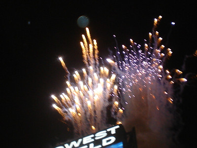 Fireworks over Qwest Field
