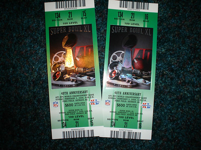 Mom and Dad's tickets to the superbowl
