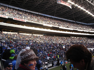 The crowd is going wild! Seahawks fans rock