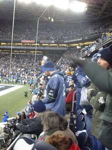 My section at the game
